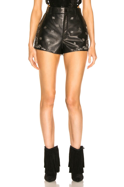 Image 1 of Saint Laurent Highwaisted Short in Black & Silver