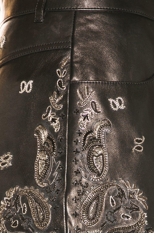Image 6 of Saint Laurent Highwaisted Short in Black & Silver