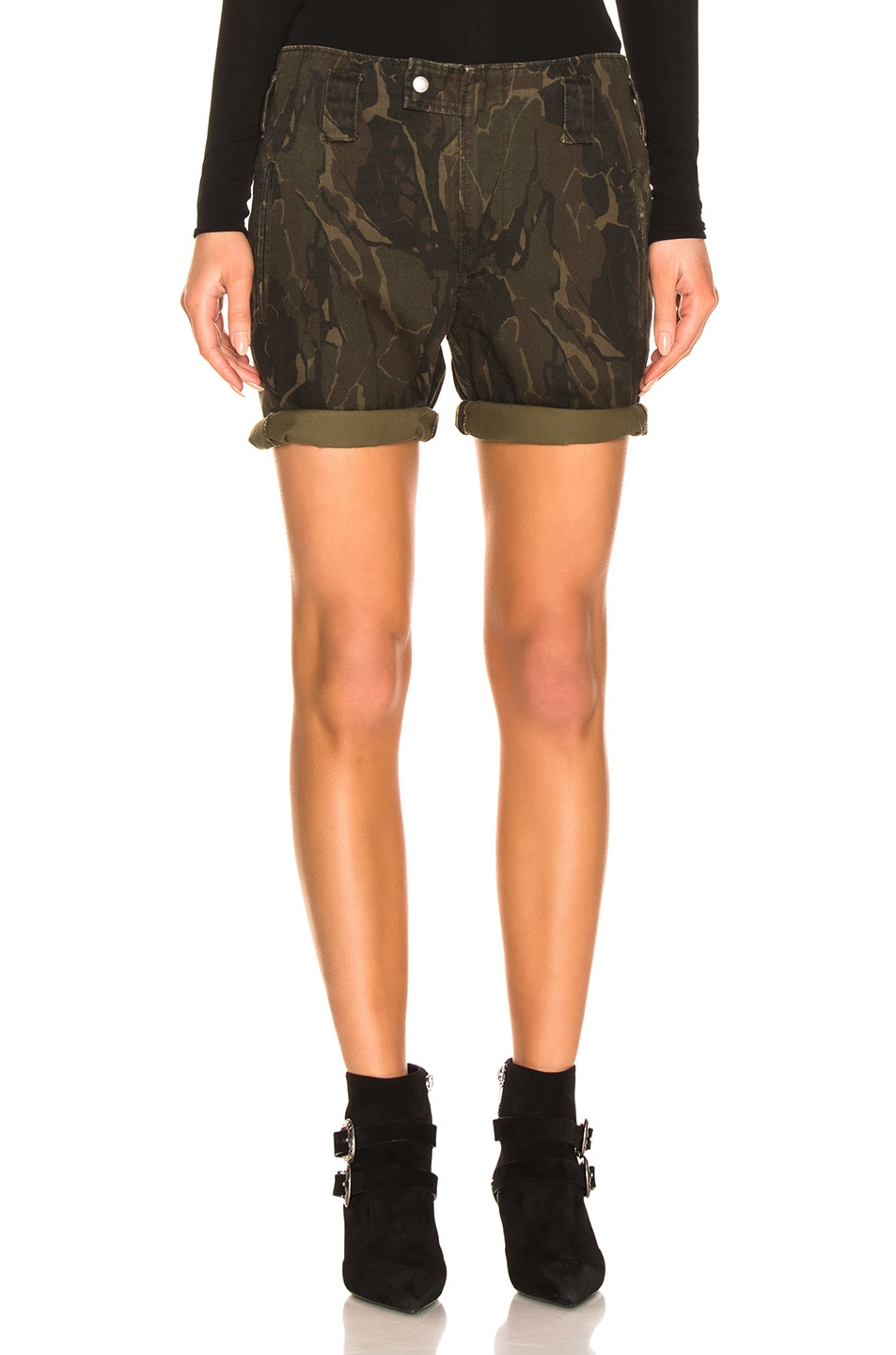 Image 1 of Saint Laurent Camo Shorts in Militaire