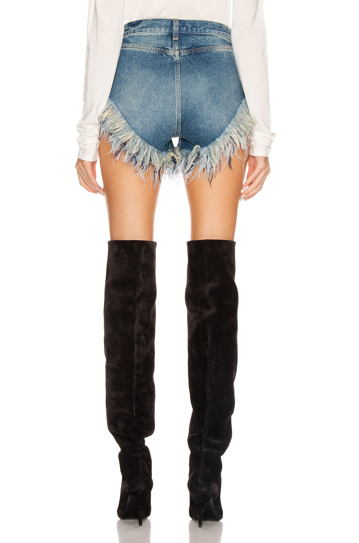 Image 3 of Saint Laurent Slim Fit Feathers Short in Arizona Light Blue