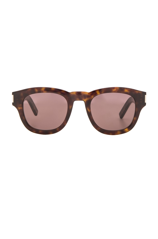 Saint Laurent Bold 2 Sonnenbrille Tortoise 003 49mm nhd5T1Ky