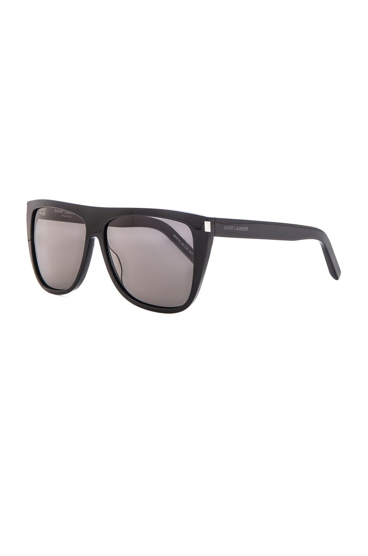 Image 2 of Saint Laurent SL 1 Sunglasses in Black