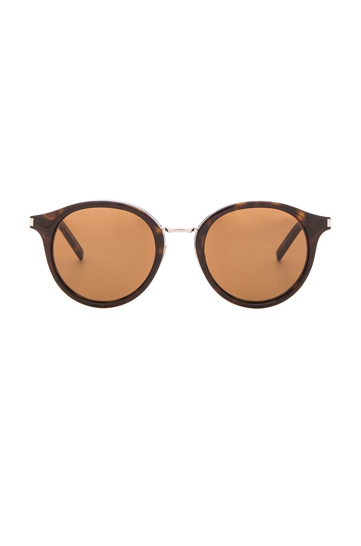 Image 1 of Saint Laurent SL 57 Sunglasses in Dark Havana