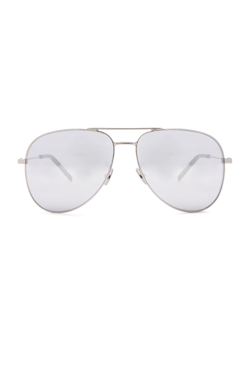 Image 1 of Saint Laurent Classic 11 Aviators in Silver Mirror