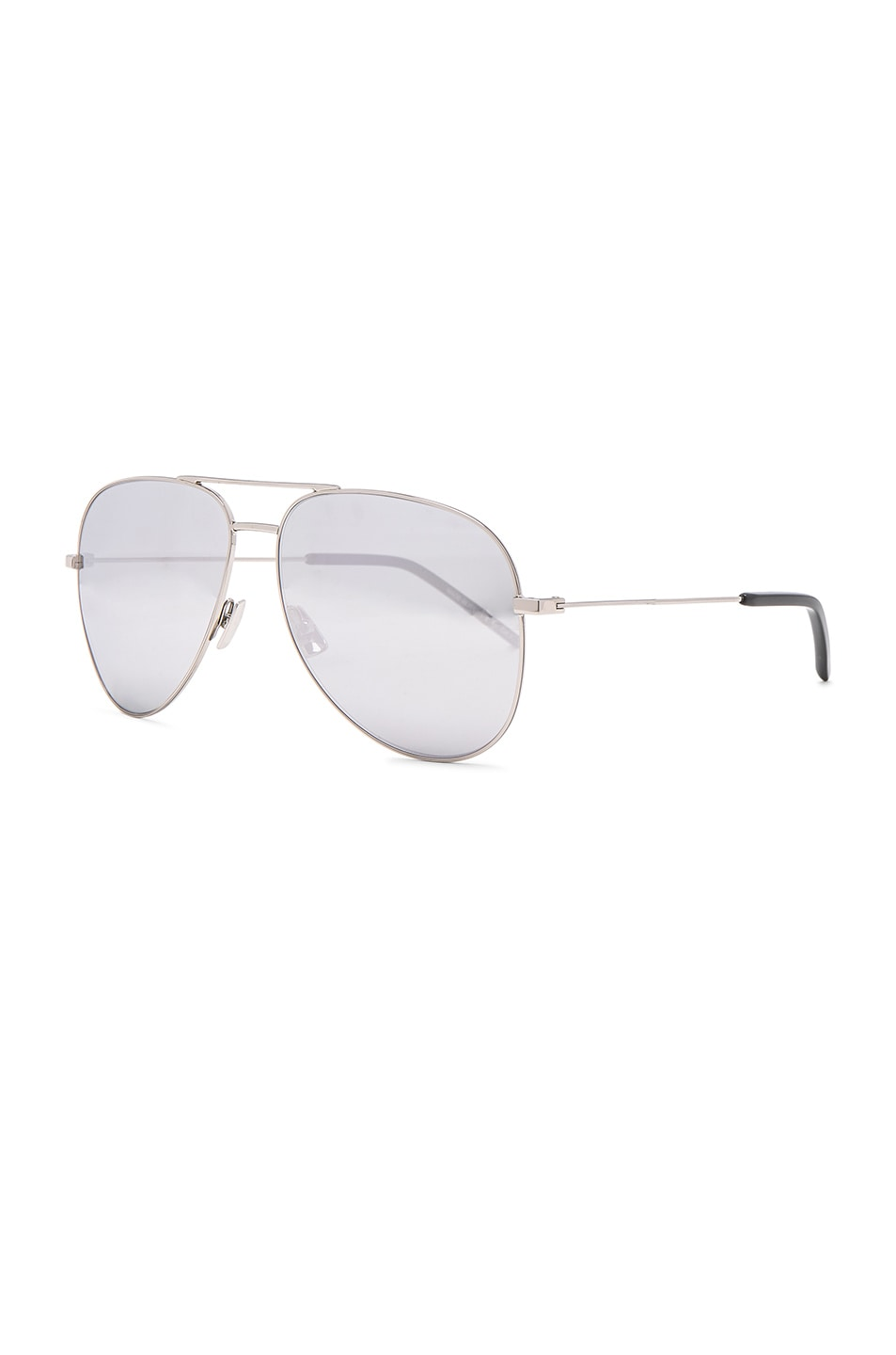 Image 2 of Saint Laurent Classic 11 Aviators in Silver Mirror