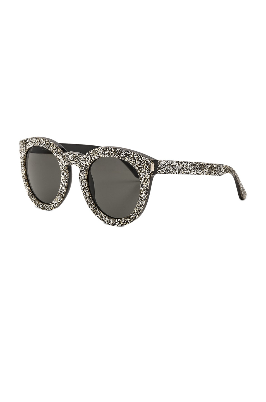 e5d358505b Image 2 of Saint Laurent SL 102 Sunglasses in Silver   Gold Glitter