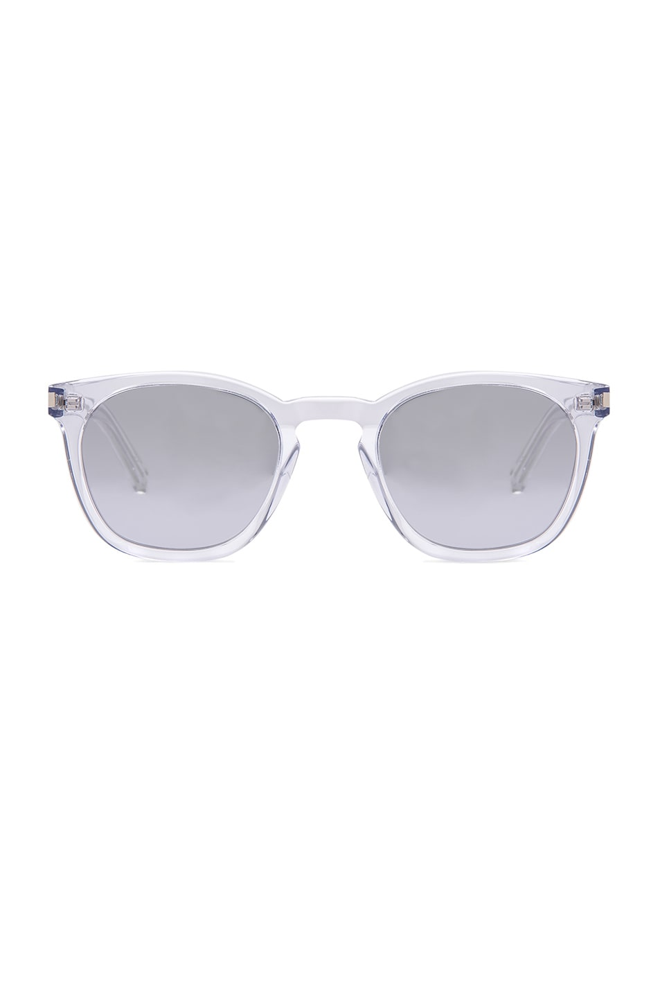 Image 1 of Saint Laurent SL 28 Sunglasses in Crystal & Silver Mirror
