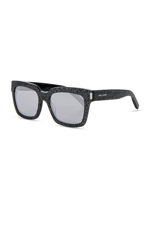 Image 2 of Saint Laurent Bold 1 Sunglasses in Glitter Multicolor, Silver & White