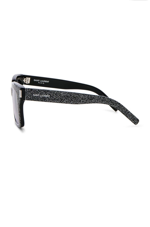 Image 3 of Saint Laurent Bold 1 Sunglasses in Glitter Multicolor, Silver & White