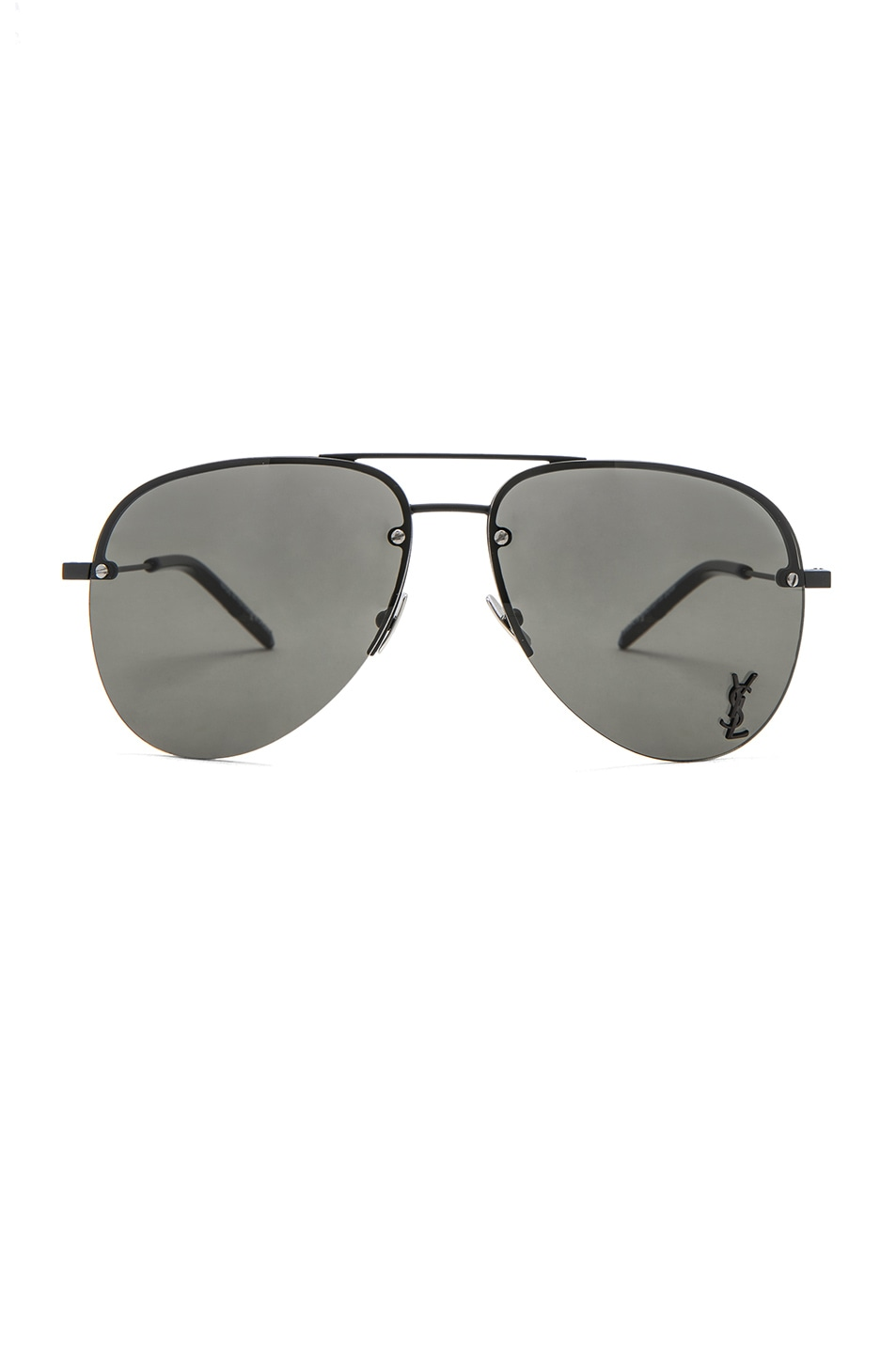 Image 1 of Saint Laurent Classic 11 M Sunglasses in Semimatte Black & Grey