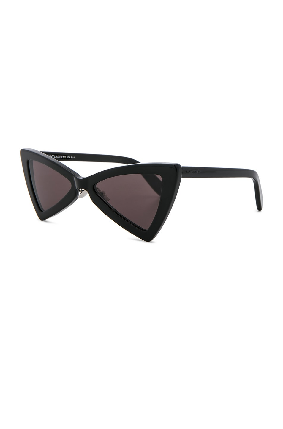Image 2 of Saint Laurent Jerry Bow Tie Sunglasses in Black