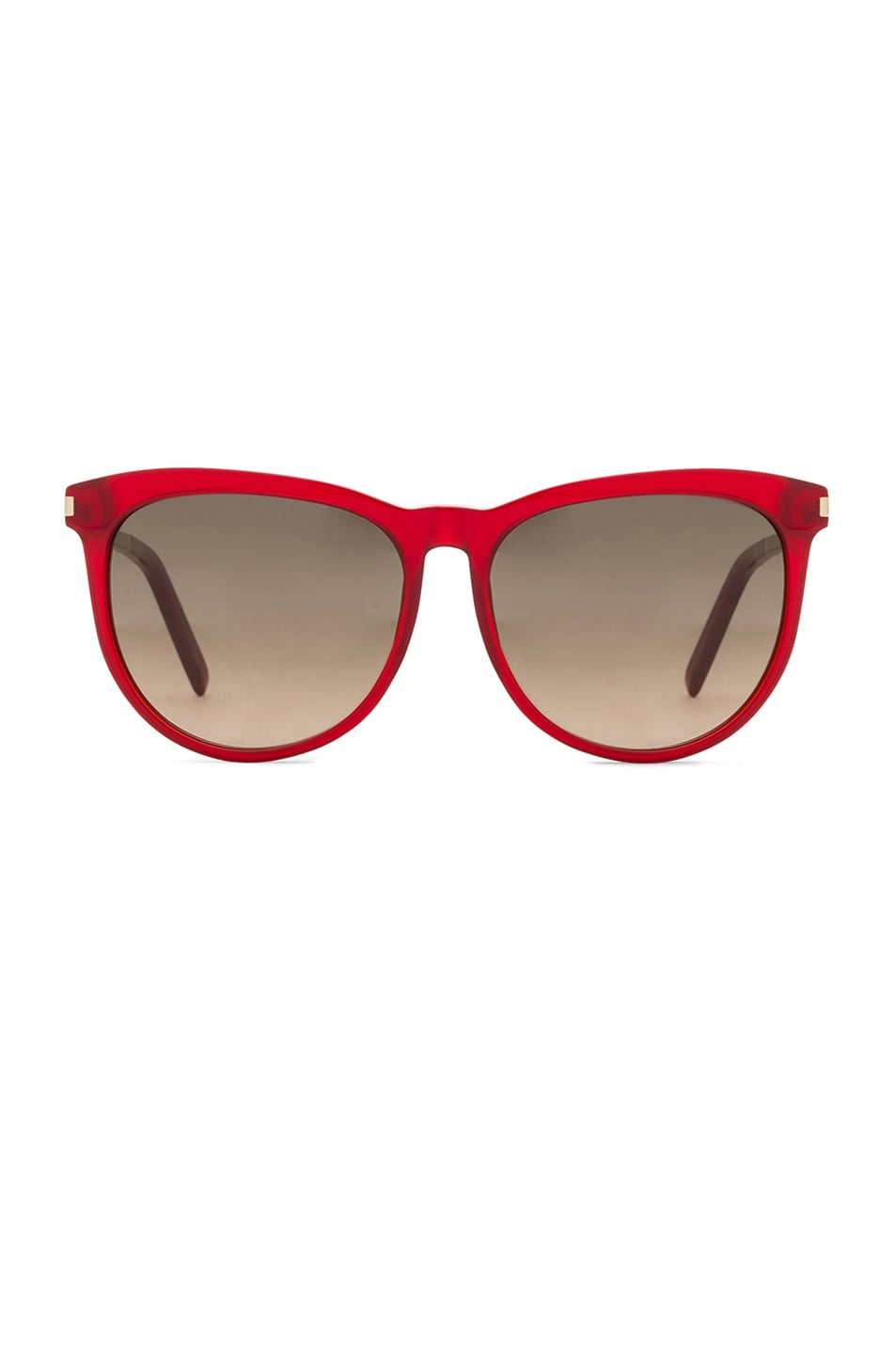 Image 1 of Saint Laurent 24S Sunglasses in Transparent Red