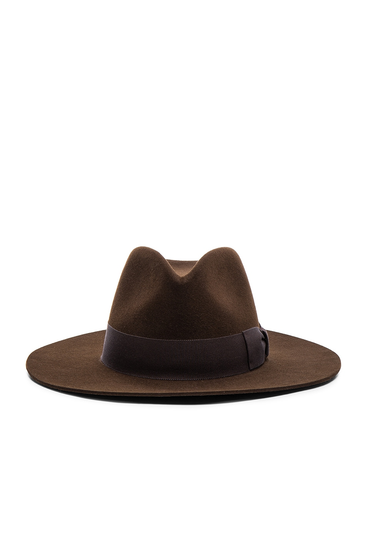 Image 1 of Saint Laurent Hat in Marron