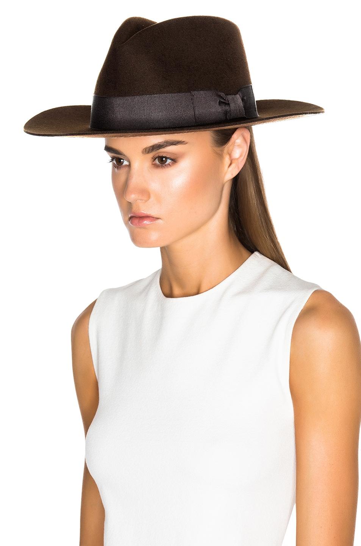 Image 2 of Saint Laurent Hat in Marron