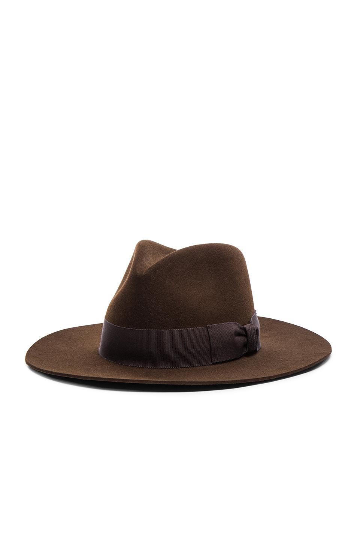 Image 3 of Saint Laurent Hat in Marron