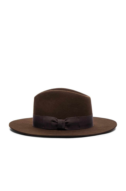 Image 4 of Saint Laurent Hat in Marron