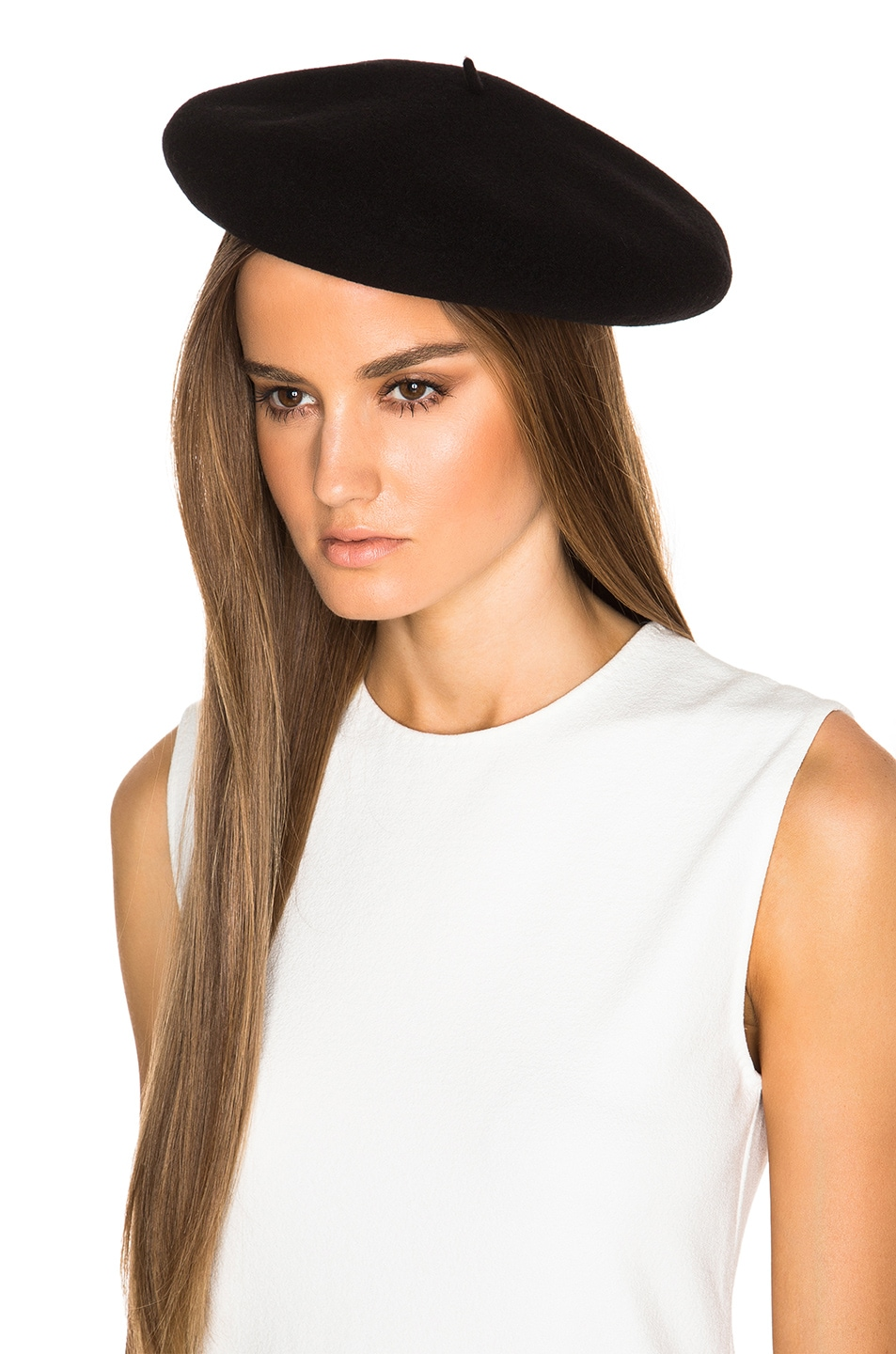 Image 2 of Saint Laurent Beret in Black