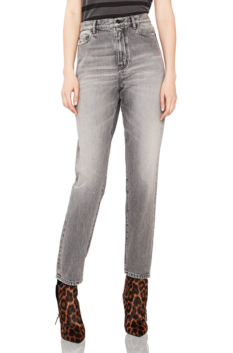 Image 1 of Saint Laurent Baggy Jeans in Dirty Light Grey