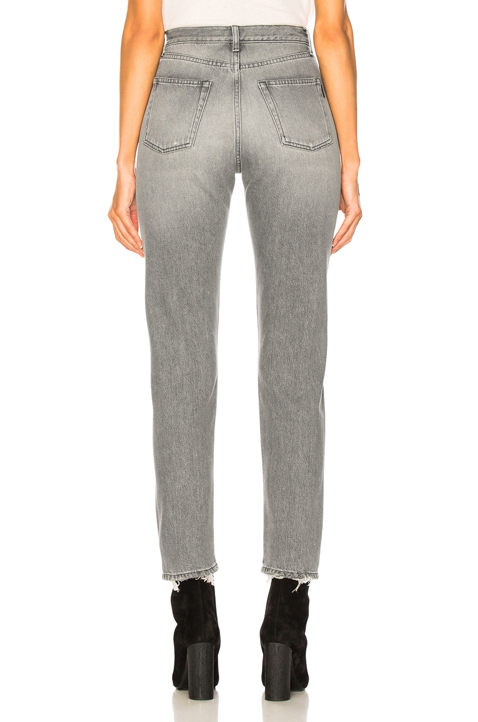 Image 4 of Saint Laurent Slim Fit Knee Hole Jeans in Dirty Light Grey
