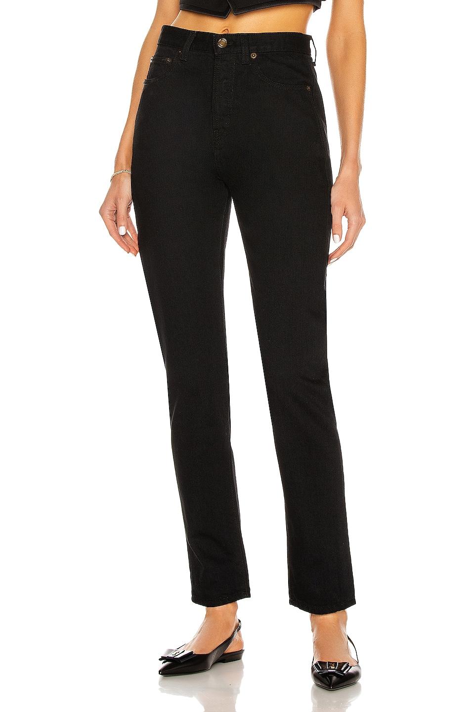 Image 1 of Saint Laurent Slim Fit Jean in Worn Black