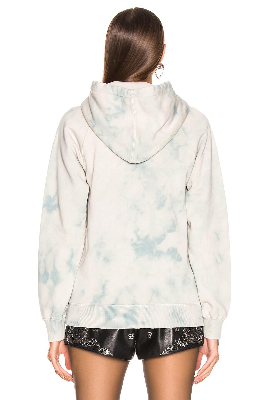 Image 3 of Saint Laurent Logo Hoodie Sweatshirt in Blue
