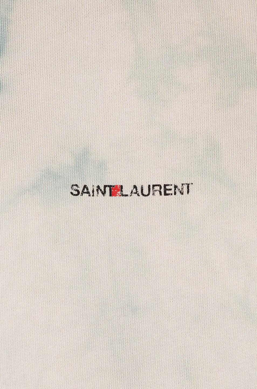 Image 5 of Saint Laurent Logo Hoodie Sweatshirt in Blue