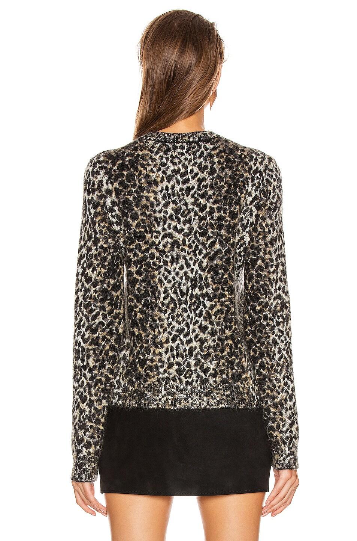 Image 3 of Saint Laurent Leopard Sweater in Black & Beige