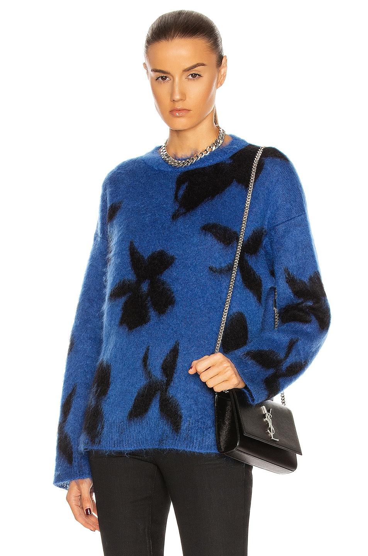 Image 1 of Saint Laurent Ninetys Sweater in Blue & Noir