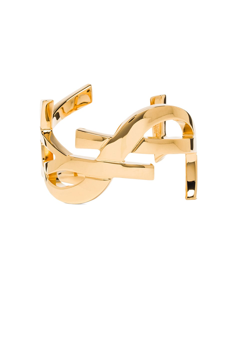 Image 1 of Saint Laurent Monogram Cuff in Gold