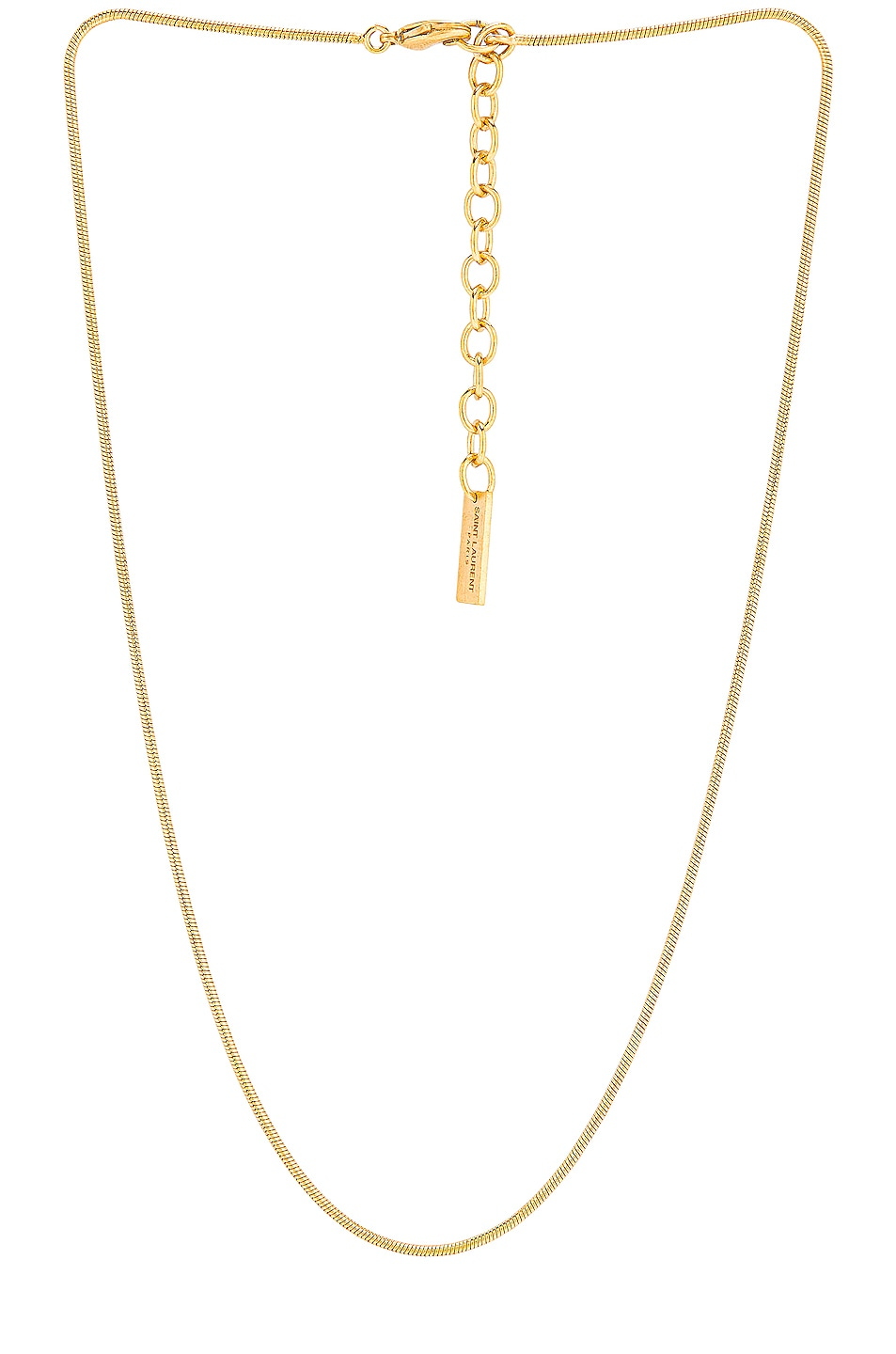 Image 1 of Saint Laurent Snake Chain Necklace in Gold
