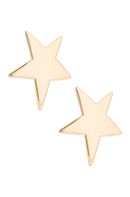 Image 1 of Saint Laurent Star Earrings in Dore Vieilli