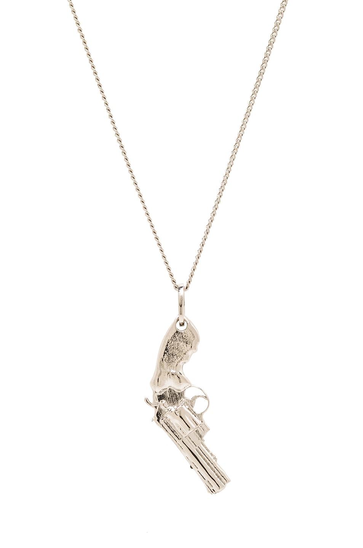 Image 1 of Saint Laurent Gun Pendant Necklace in Silver