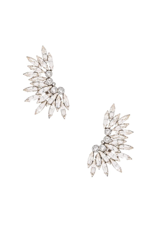Image 1 of Saint Laurent Cocktail Clip Earrings in Crystal & Palladium