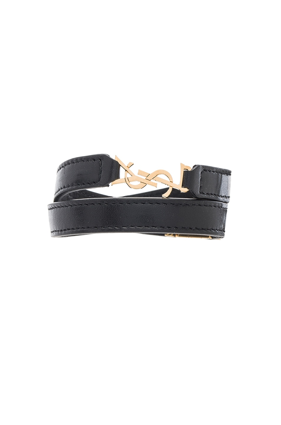 Image 1 of Saint Laurent YSL Bracelet in Black