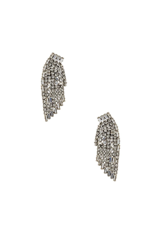 Image 1 of Saint Laurent Cascade Earrings in Crystal & Palladium