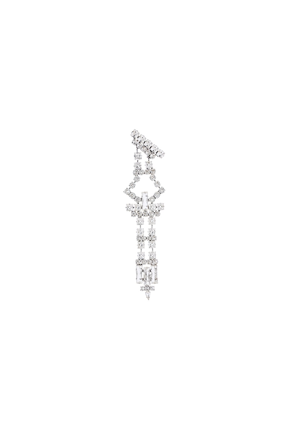 Image 1 of Saint Laurent Single Drop Earring in Crystal & Palladium