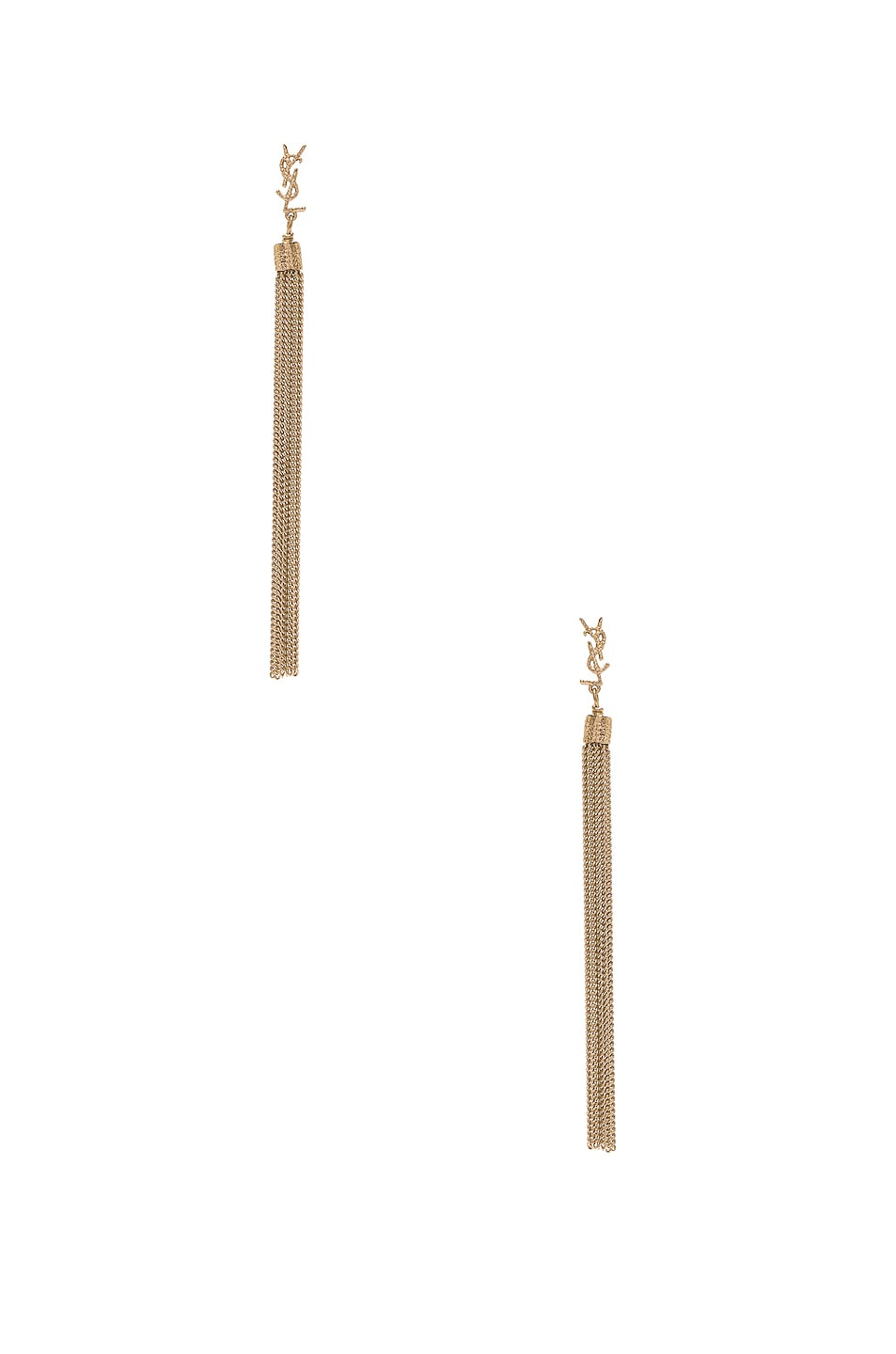 Image 1 of Saint Laurent Simple Chain Earrings in Gold