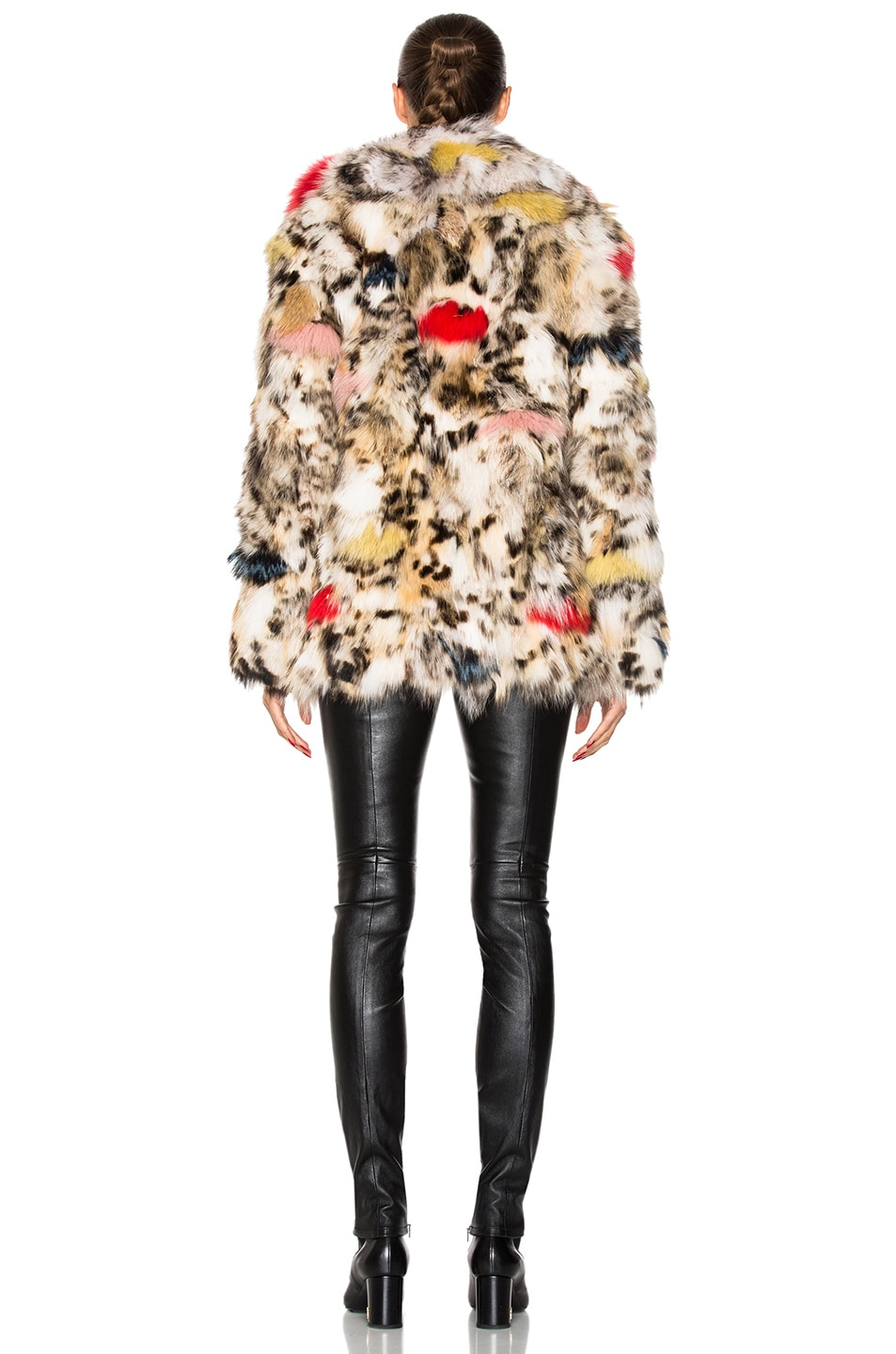 Image 4 of Saint Laurent Leopard Fox Fur Coat in Natural & Multi