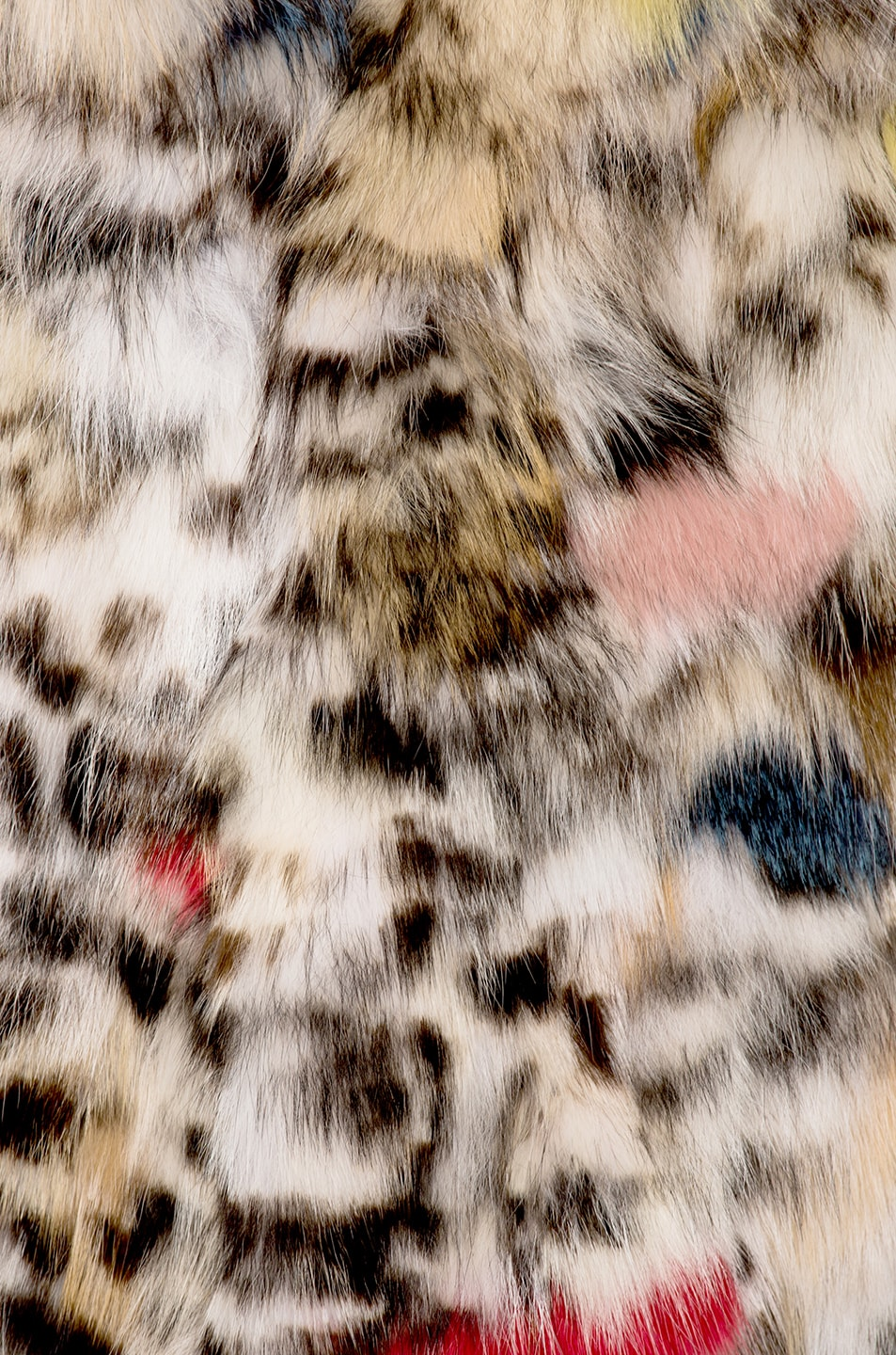 Image 5 of Saint Laurent Leopard Fox Fur Coat in Natural & Multi