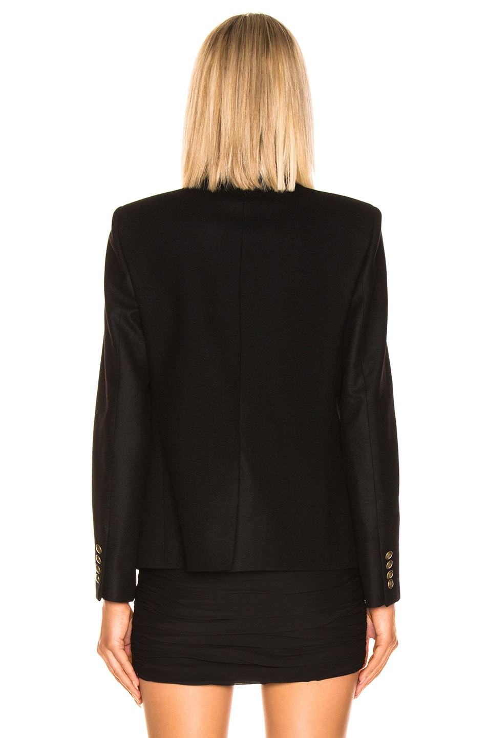 Image 5 of Saint Laurent Logo Blazer in Black