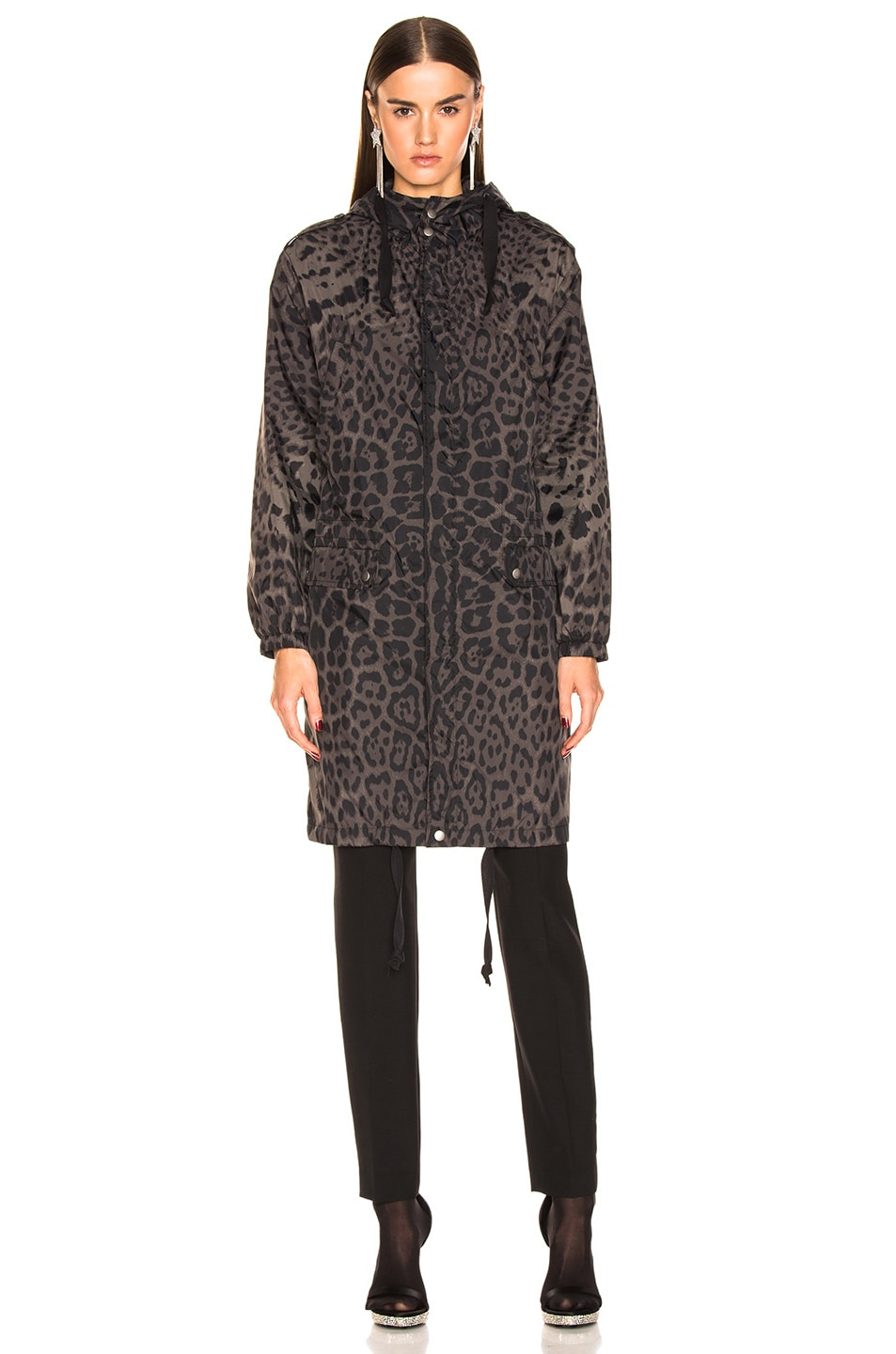 Image 2 of Saint Laurent Leopard Jacket in Militaire