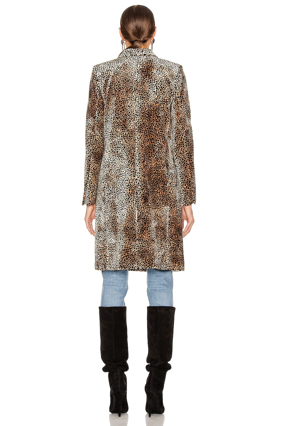 Image 4 of Saint Laurent Leopard Coat in Beige & Black