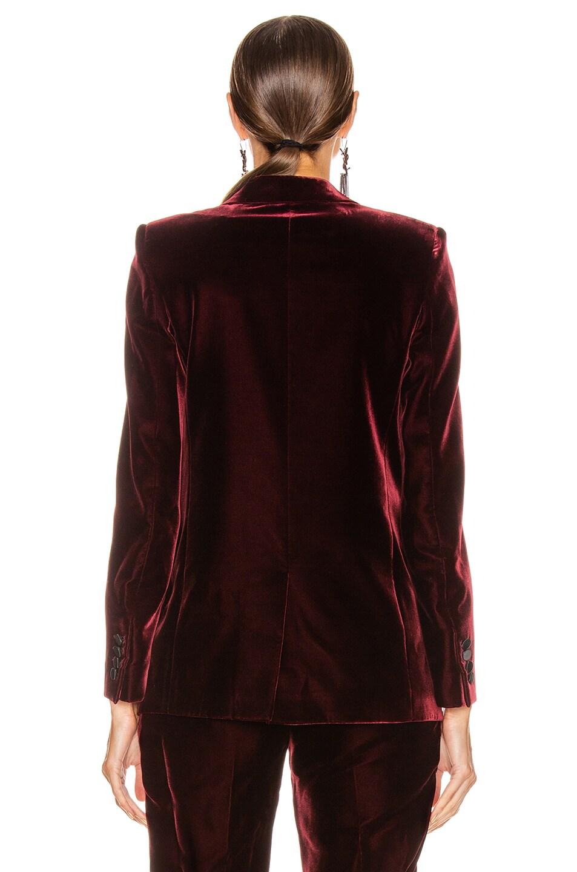 Image 4 of Saint Laurent Tailored Blazer Jacket in Bordeaux