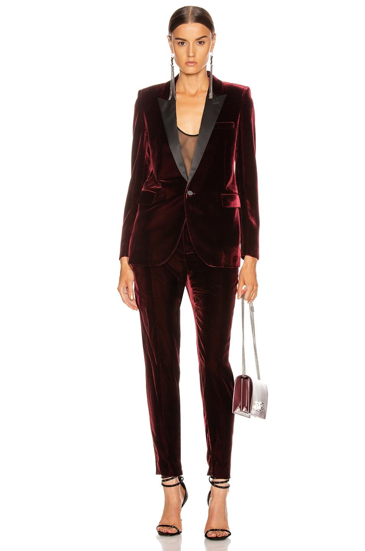 Image 5 of Saint Laurent Tailored Blazer Jacket in Bordeaux