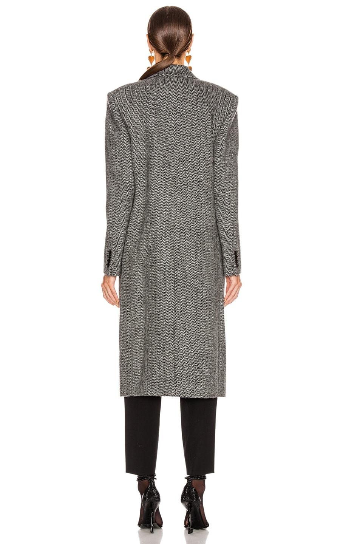Image 4 of Saint Laurent Oversized Coat in Black & White
