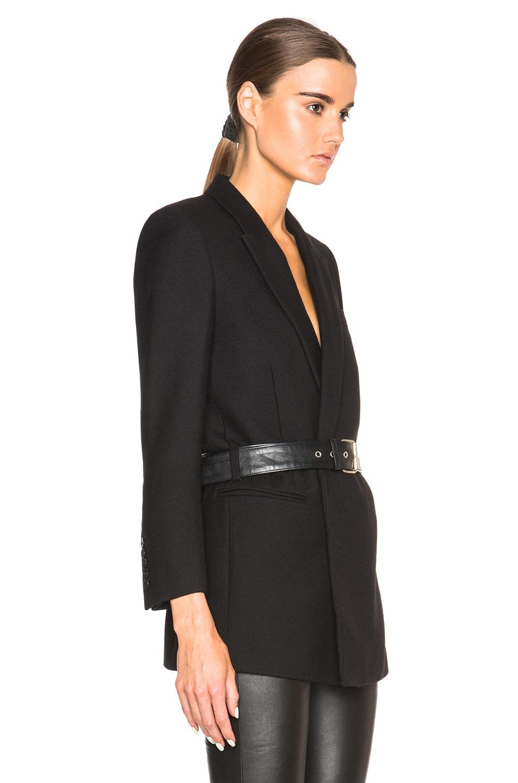 28034de85053 Image 4 of Saint Laurent Belted Blazer in Black