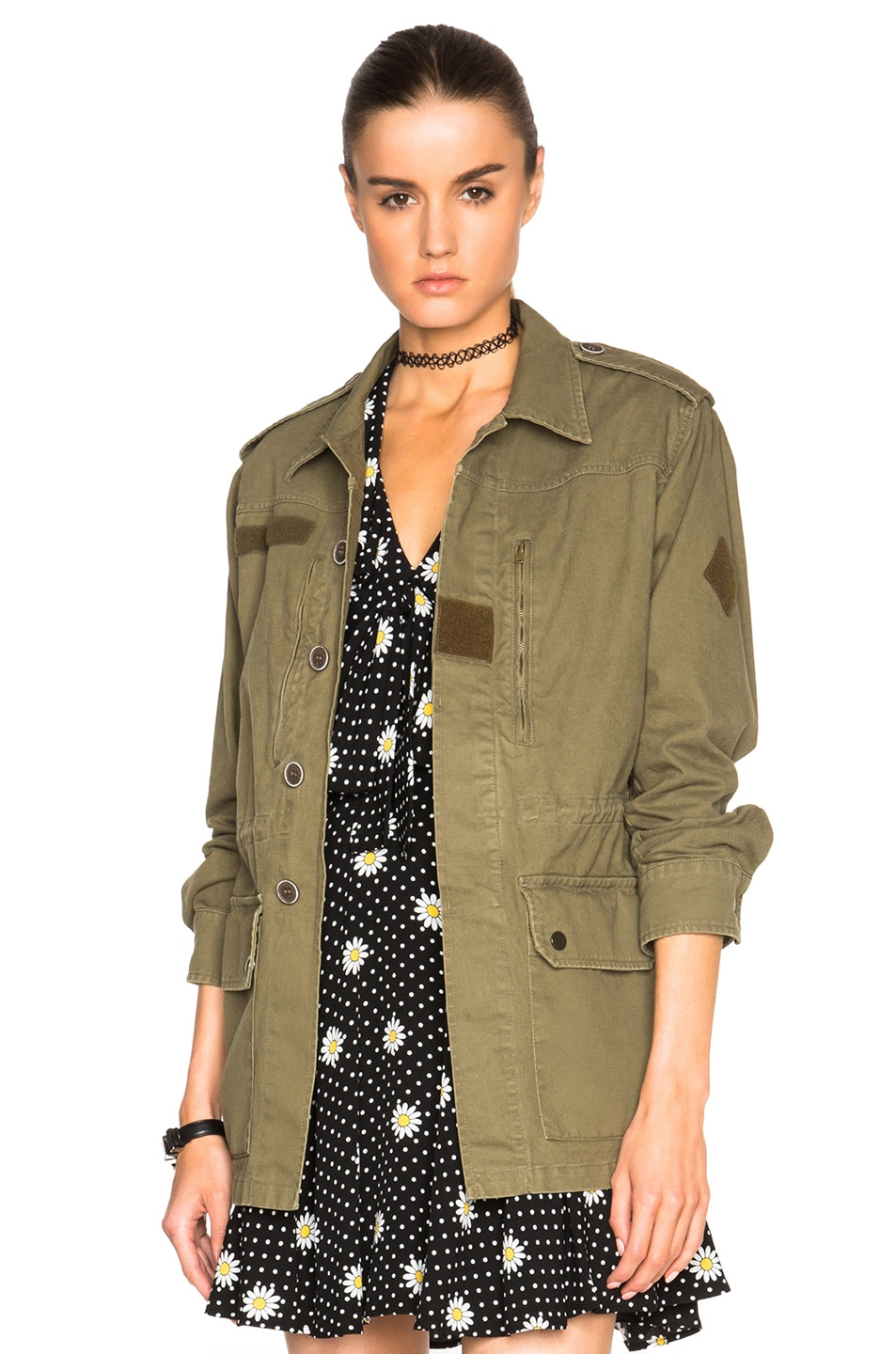 Image 1 of Saint Laurent Military Parka in Khaki
