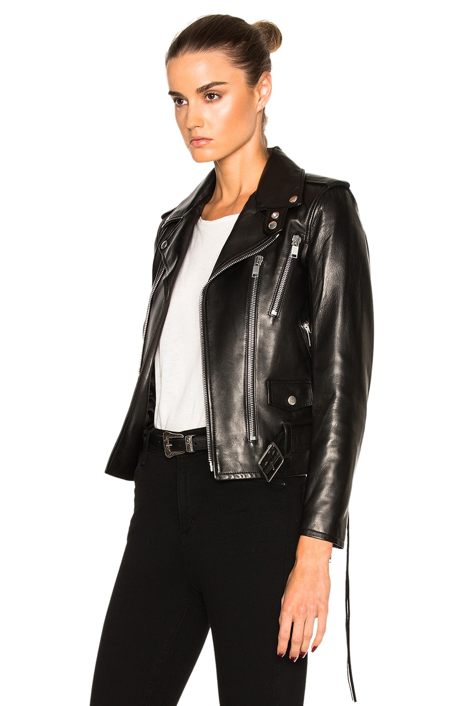c370d96544f Image 3 of Saint Laurent Classic Motorcycle Jacket in Black