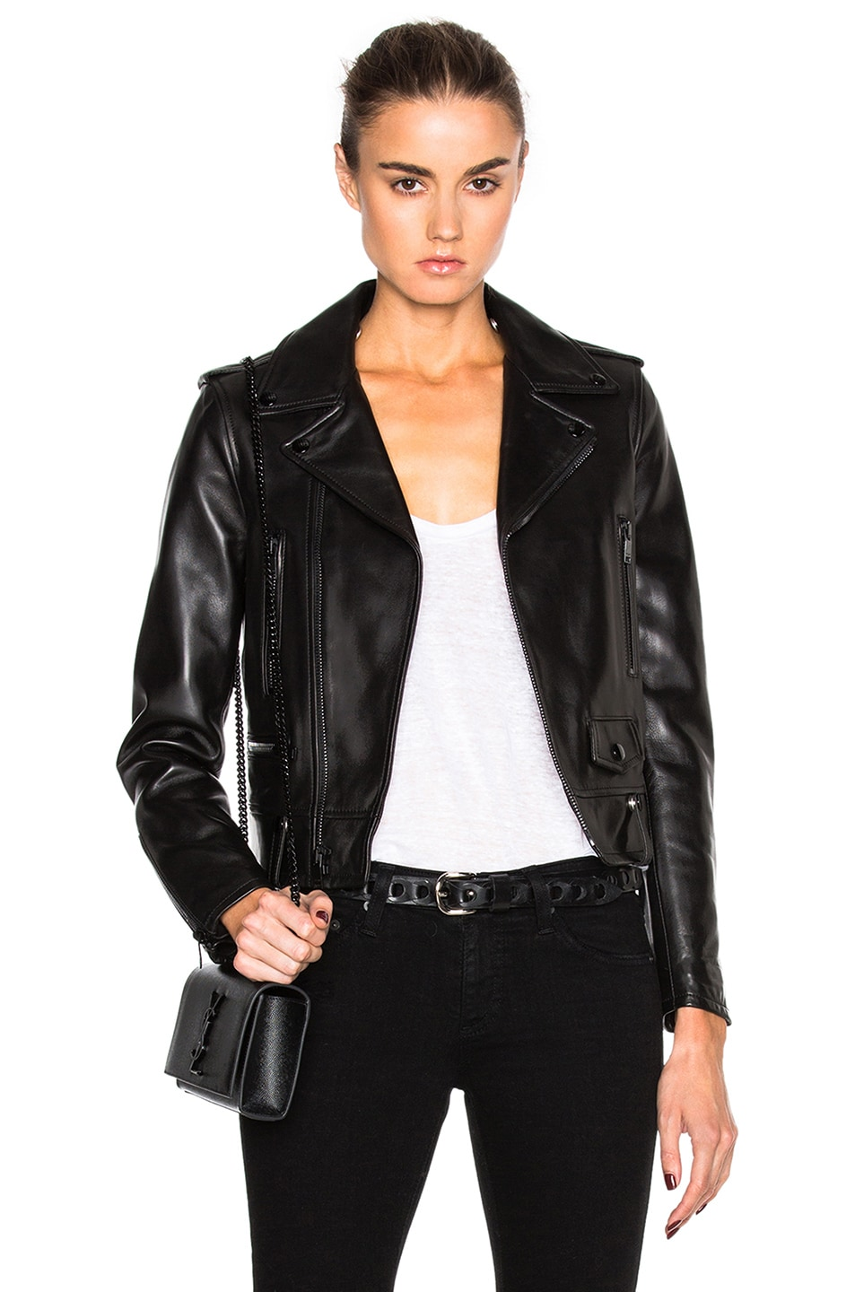 Image 1 of Saint Laurent Motorcycle Jacket in Black