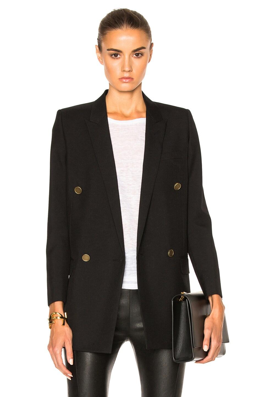Image 1 of Saint Laurent Gabardine Blazer in Black